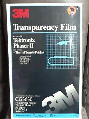 3m Cg3630transparency Film For Tektronix Phaser Clear 50 Sheets 8.5 X 11