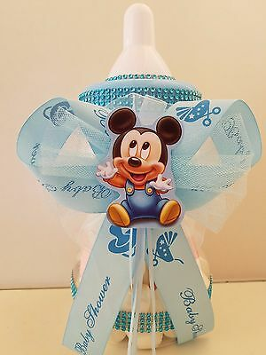 Baby Bottle Piggy Bank (Mickey Mouse Centerpiece Bottle Large 12