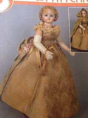 "12"" French Fashion Doll Wardrobe Pattern Ball Gown,Cape,Corset,Bustle,Petticoat"