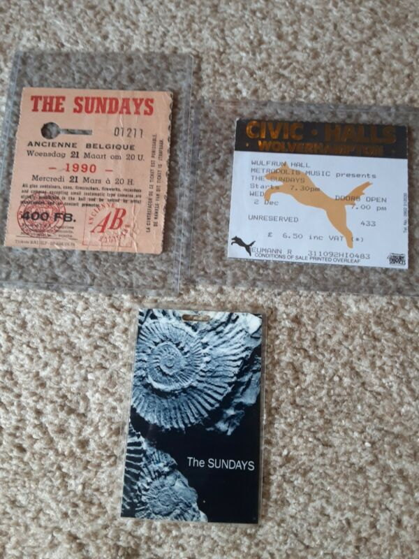 The Sundays Harriet Wheeler 2 Tickets 1 Pass RARE