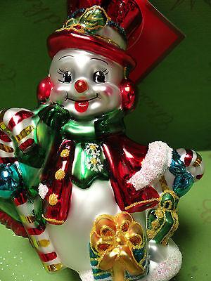 Christopher Radko Snow Stroll Glass Ornament