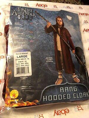 Avatar the Last Airbender Aang Hooded Cloak Halloween Costume  Large - Aang Avatar Kostüm
