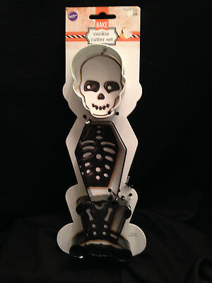 Wilton 3 Piece Assorted Skeleton Halloween Cookie Cutter Set Recipe Autumn Fall - Wilton Halloween Recipes