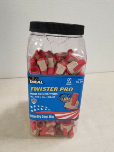IDEAL Twist On Wire Connector,22-8 AWG, 30-244J, Red/Gray, 250 Pack