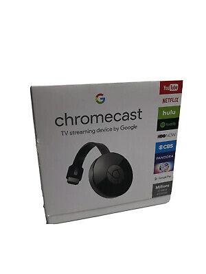 Google Chromecast 2 Digital HD Media Streamer 2nd Generation - Black NC2-6A5