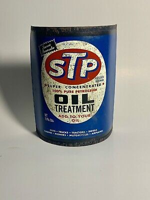 STP MOTOR OIL TREATMENT CAN TIN SIGN HOME DECOR,GARAGE VINTAGE LOOK MANCAVE GIFT