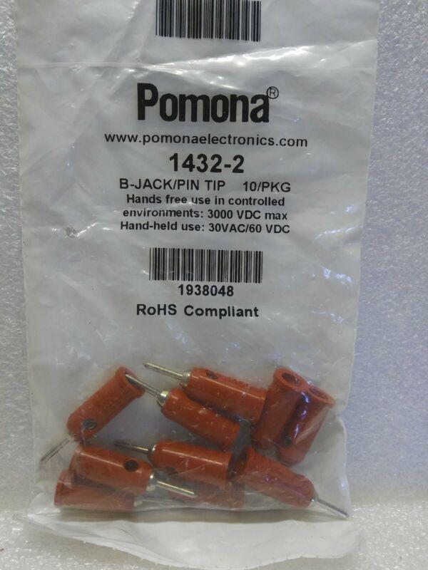 ITT POMONA ELECTRONICS TEST PLUGS, 1432-2 (BAG OF 10) Red