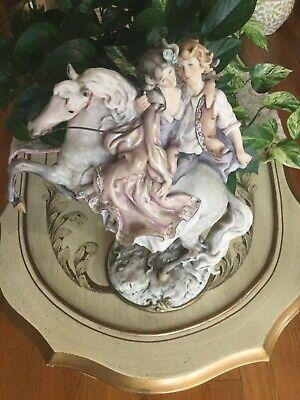 Giuseppe Armani Couples on Horse - Figurine Statue