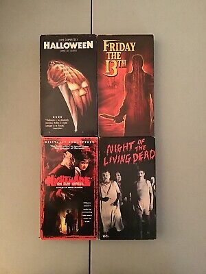 Halloween Horror Night Nightmares (Horror VHS Lot Halloween Friday The 13th Nightmare Elm Street Night Of)