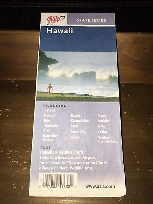 HAWAII-VINTAGE AAA STATE SERIES 9/01-12/02 ROAD MAP for sale  Shipping to Canada