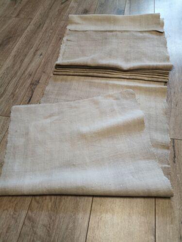 Antique homespun Hemp Fabric 12,4x0,49m Grey Great condition