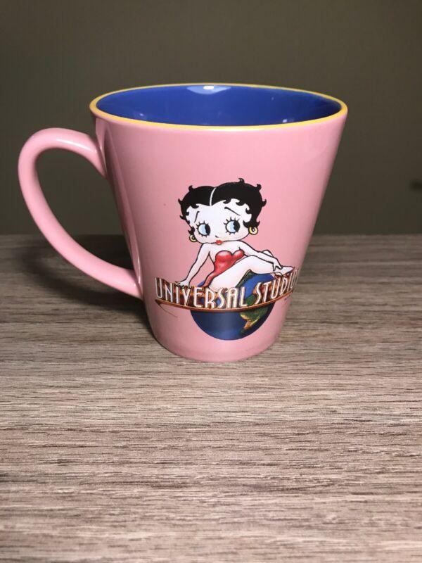 Betty Boop Universal Studios Pink Blue Coffee Mug