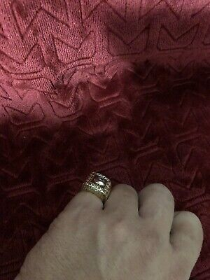 Mens Versace Ring 10K Yellow Gold 9.1g Size:6 (GEP001431)