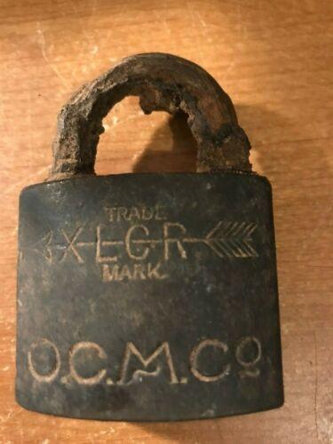 O. C. M. Co ( Old Colony Copper Company ) Padlock ( no key )