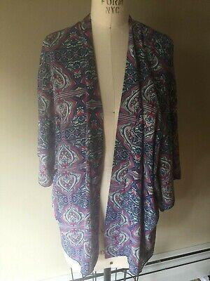 Anthropologie Bird Cage Kimono Cover Up Top Shrug Boho Poly Size Medium -
