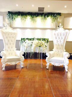 Throne Chair Wedding Chair Chaise Chair For Hire