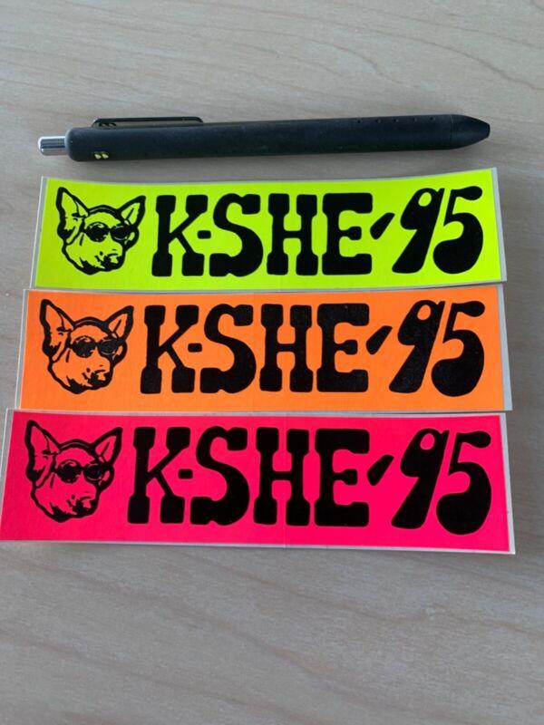 KSHE 95 Real Rock Radio Vintage (Mini) Bumper Sticker