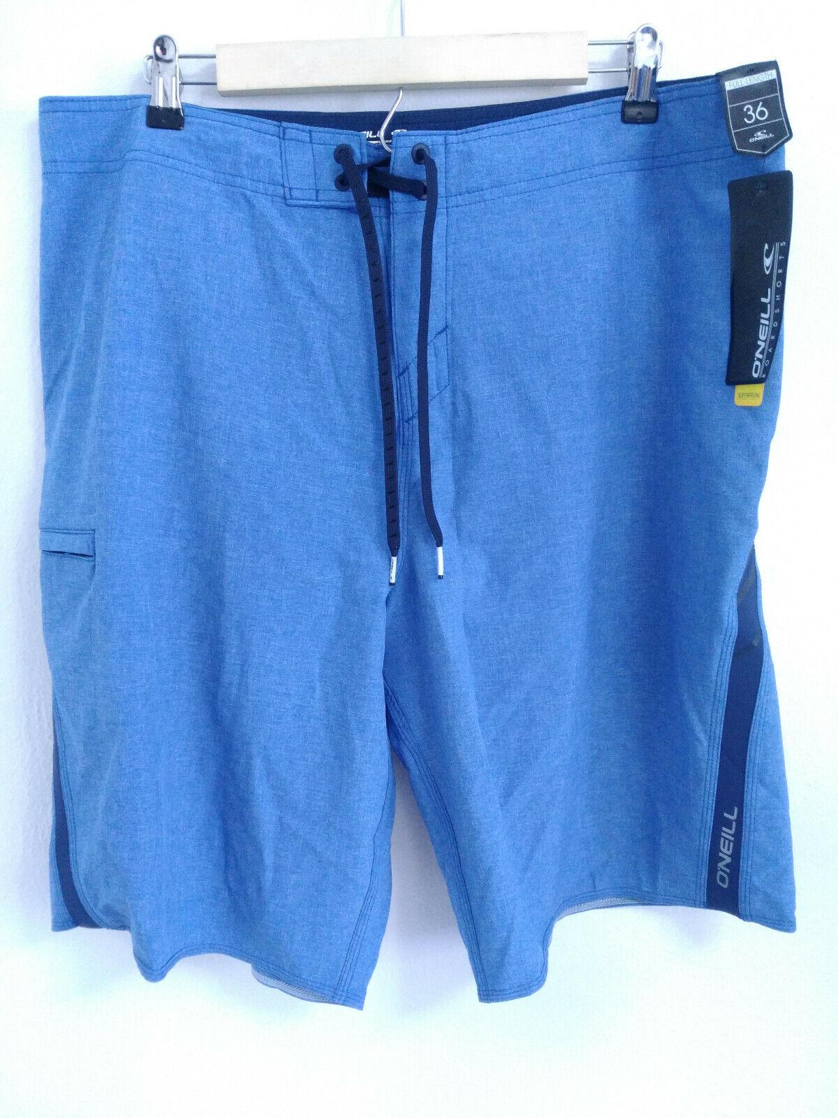 O'Neill Superfreak Boardshorts Mens Size 36 Blue Drawstring