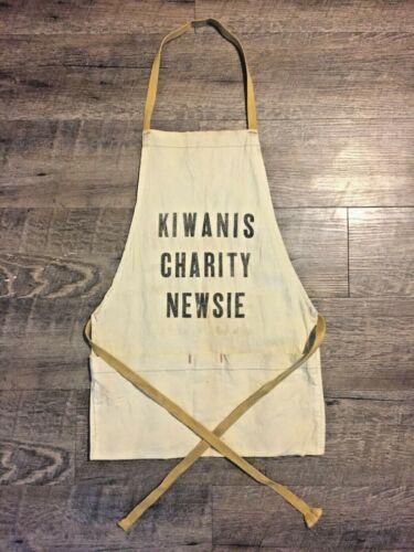 Vintage Kiwanis Club Charity Newsie Apron Newsboy Paperboy Sm. Adult or Child sz