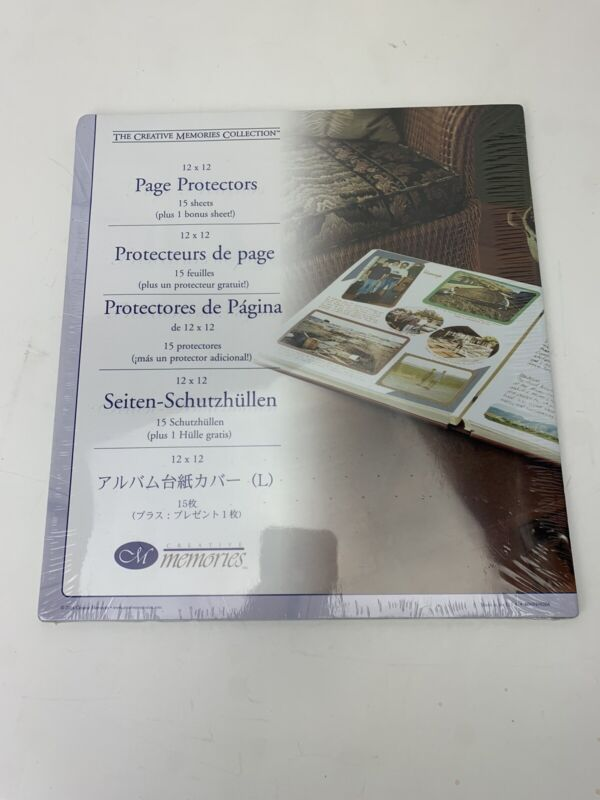 THE CREATIVE MEMORIES COLLECTION 12X12 PAGE PROTECTORS NIP