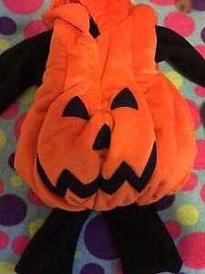 6-12 months pumpkin costume