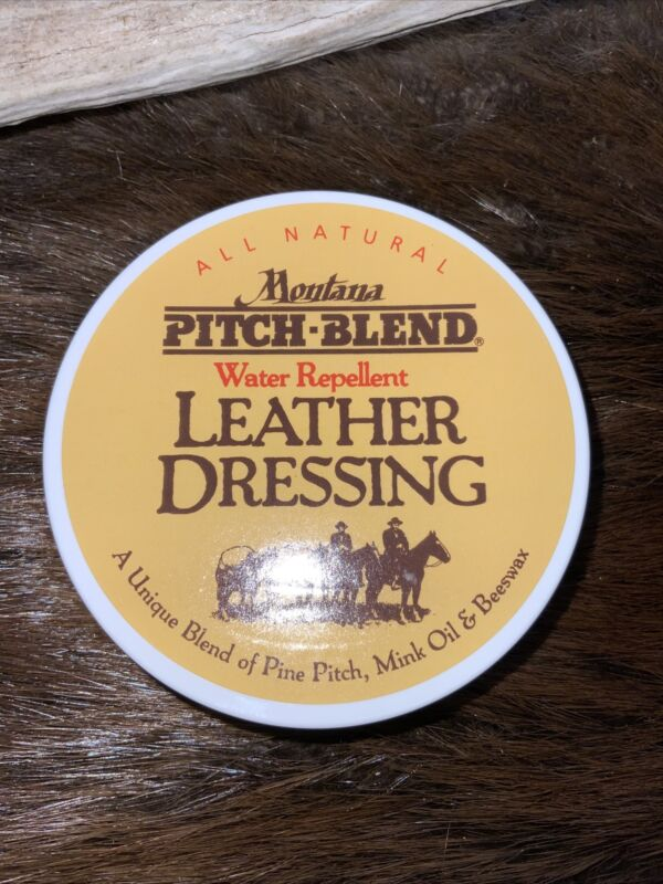 Montana Pitch Blend Leather Conditioning Balm, 4 Ounce Container, made in USA