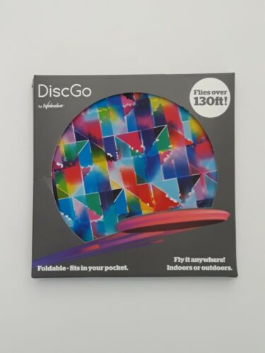 Waboba DiscGo Foldable Frisbee Triangle Pattern Indoor Outdo