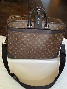 Louis-Vuitton-Monogram-Macassar-Porte-Documents-Voyage-100-AUthentic