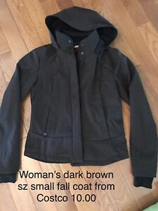 Dark brown fall jacket from costco