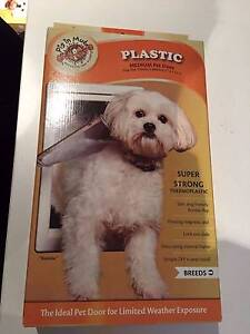 Plastic Pet Door White Medium For Dogs By Pig In Mud. 2 available. Doubleview Stirling Area Preview