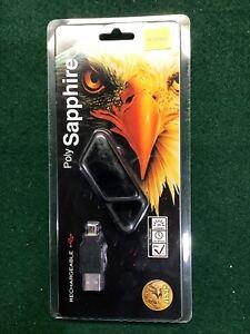 NEW! ASP Poly Sapphire, USB Rechargeable Mini LED Flashlight, 20 Lumens, Black