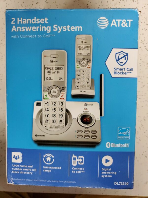 AT&T - 2 Handset Connect to Cell Answering System, DL72210, *READ DESCRIPTION*
