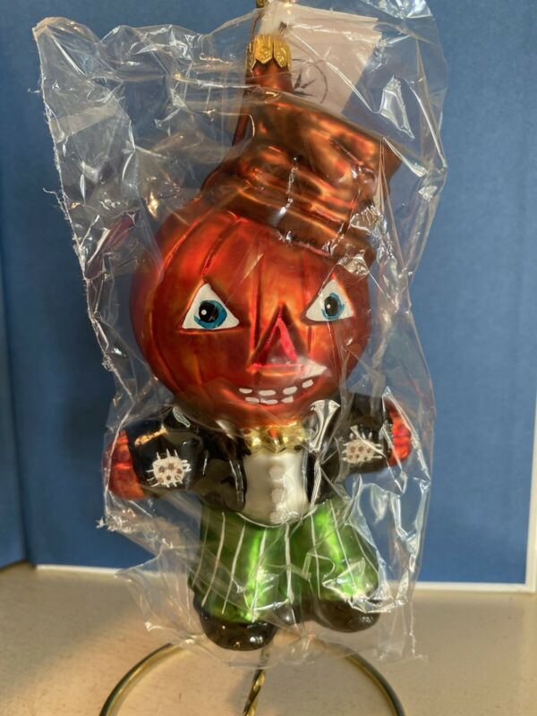 Christopher Radko Halloween Ornament PUMPKIN PETE w/ Green Pants 1997