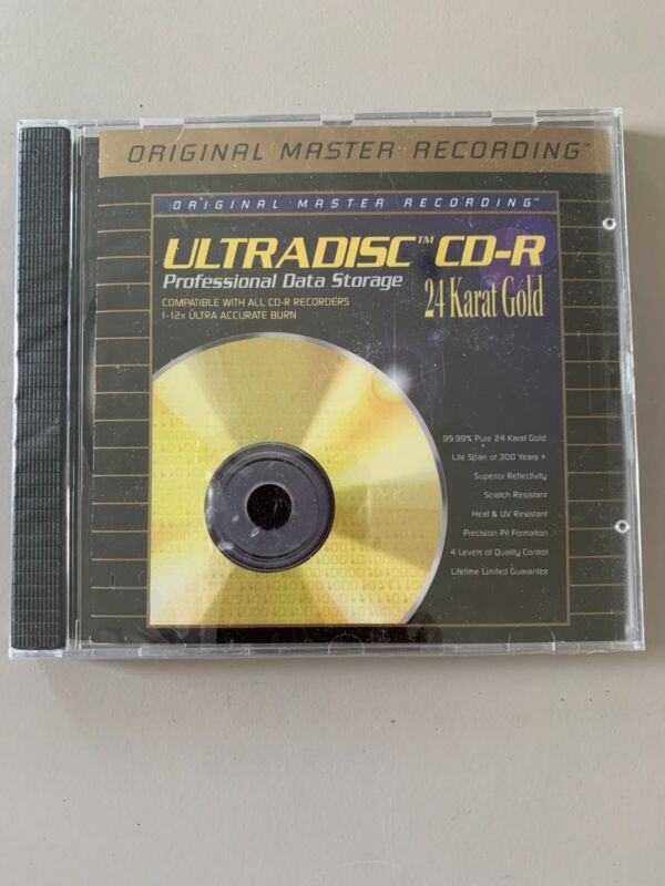 Ultradisc CD-R Blank 24 Karat Gold MFSL SEALED MINT