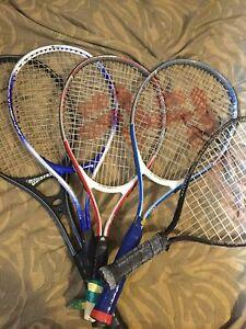 5 tennis racquets