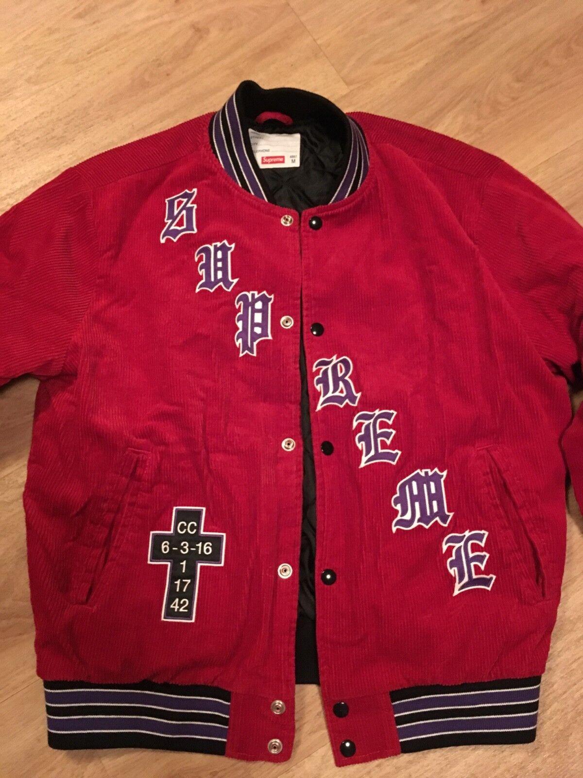 Veste supreme® rouge homme taille m 100% cotton