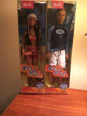 2 Barbie Dolls Cali Girl And Blaine Cali Guy New