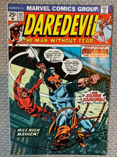 Daredevil #111 1st appearance of Silver Samurai -High  Grade