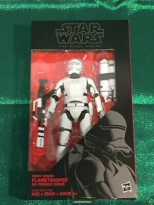 Hasbro 2016 Star Wars Black Series 6 inch figure FIRST ORDER FLAMETROOPER 16 NIB