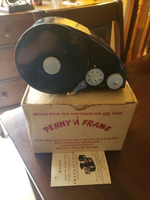 RARE Beautiful Vintage Watson 66C 35MM Bulk Film Reloader Loader with Box Decor