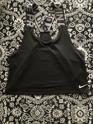 Nike Pro Intertwist Top Vest Black Grey