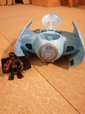 Star Wars Galactic Heroes Hasbro Darth Vadar and Tie Fighter