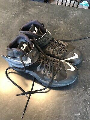 Nike Lebron James Zoom Soldier 8 Black Mens Size 13 Basketball Shoes