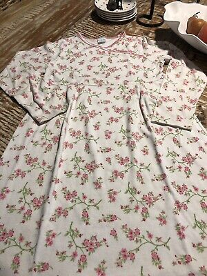 Girls Size 9 - Gymboree - LS Pink Floral Nightgown - Some Washwear & Piling!
