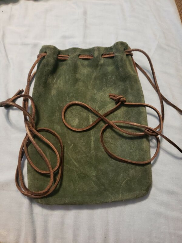 Leather Pull Bag/pouch. Ren faire costume