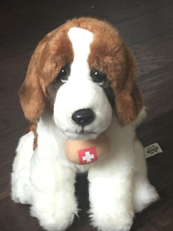 St. Bernard Plush RESCUE DOG Toys R Us Animal Alley Swiss Cross Barrel Stuffed