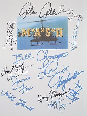 MASH Signed TV Finale Script Goodbye Farewell and Amen X13 Alan Alda Swit repint