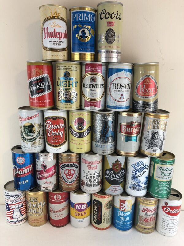 Lot of 29 Old pull tab Beer Cans