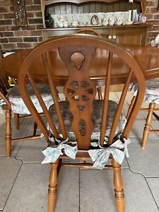 Timber Kitchen Table with Chairs and Stools