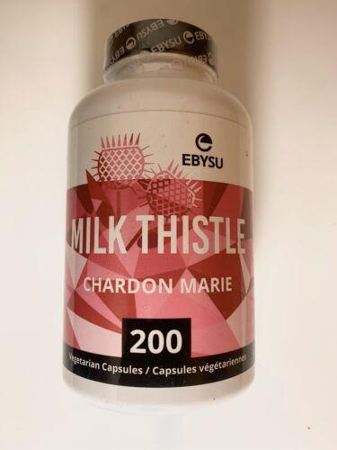EBYSU MILK THISTLE CHARDON MARIE Capsules Liver Cleanse 200
